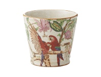 LivingStyles Azure Painted Ceramic Pot, Small