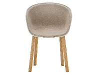LivingStyles Replica Fabric Hay Scoop Dining Chair, White / Natural