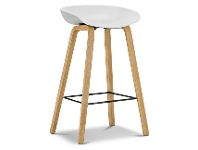 LivingStyles Replica Hay Counter Stool, White / Natural