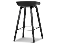 LivingStyles Replica Hay Counter Stool, Black