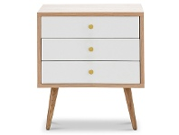 LivingStyles Liena Wooden 3 Drawer Side Table