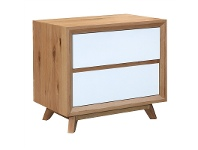 LivingStyles Sibil Wooden Bedside Table