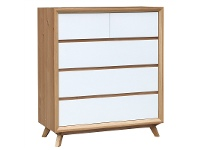 LivingStyles Sibil Wooden 4 Drawer Tallboy