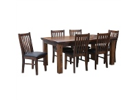 LivingStyles Artemis Solid Pine Timber 210cm Dining Table (Table Only)
