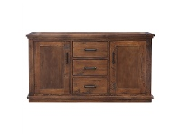 LivingStyles Artemis Solid Pine Timber 2 Door 3 Drawer 160cm Buffet Table