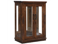 LivingStyles Artemis Solid Pine Timber 2 Door Display Cabinet