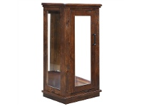 LivingStyles Artemis Solid Pine Timber 1 Door Display Cabinet