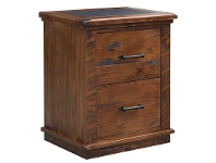 LivingStyles Artemis Pine Timber 2 Drawer File Cabinet