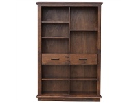 LivingStyles Artemis Solid Pine Timber Staggered Bookcase