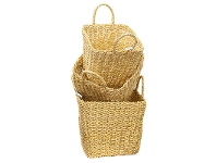 LivingStyles Wangford 3 Piece Recycled Twisted Foil Basket Set