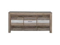 LivingStyles Albergo Acacia Timber 2 Door 3 Drawer Buffet Table, 165cm