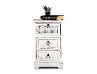 LivingStyles Rondin Paulownia Timber 3 Drawer Side Table