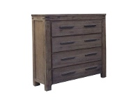 LivingStyles Amherst Solid Acacia Timber 4 Drawer Tallboy