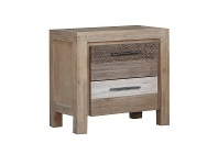 LivingStyles Albergo Acacia Timber Bedside Table