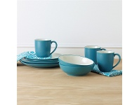 LivingStyles Noritake Colorwave Turquoise Coupe Salad Plate