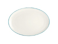 LivingStyles Noritake Colorwave Turquoise Oval Platter