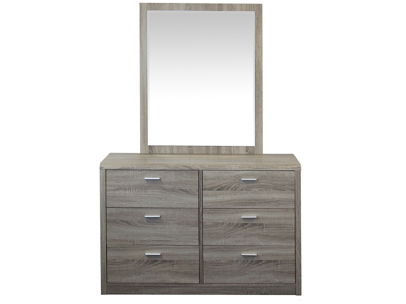 Gaston 6 Drawer Dresser with Mirror