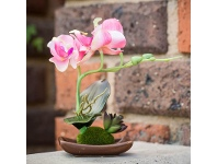LivingStyles Set of 4 Artificial Table Orchids - Pink