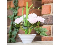 LivingStyles Artificial Roses in Pot - Pink