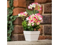 LivingStyles Artificial Miniature Hydrangeas in Pot - Hot Pink