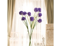LivingStyles Set of 3 Three Head Artificial Hydrangeas - Lilac