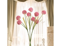 LivingStyles Set of 3 Three Head Artificial Hydrangeas- Light Pink