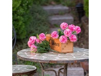 LivingStyles Set of 2 Artificial Carnations Bunches - Hot Pink