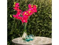 LivingStyles Set of 4 Small Artificial Ocean Orchid - Hot Pink