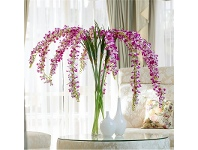 LivingStyles Set of 5 Artificial Ocean Orchid - Lilac White