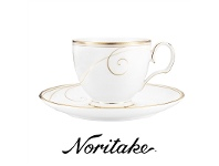LivingStyles Noritake Golden Wave Fine China Teacup and Saucer