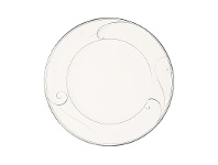 LivingStyles Noritake Platinum Wave Fine China Dinner Plate