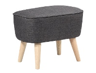LivingStyles Fiesta Commercial Grade Fabric Foot Stool, Charcoal
