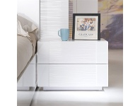 LivingStyles Sanford High Gloss Bedside Table