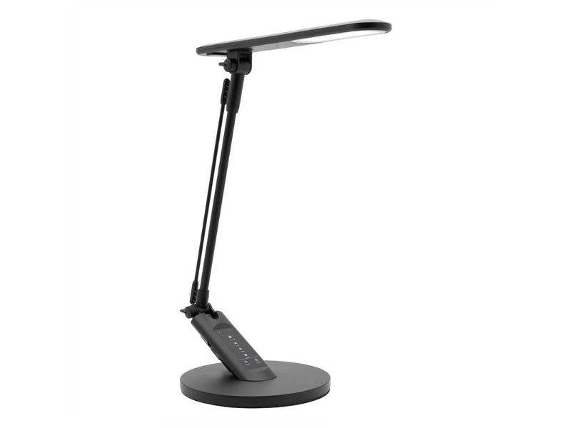 Flick LED Touch Desk Lamp with USB Port, Black