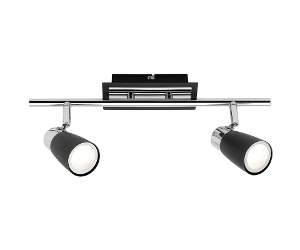 Alecia Metal LED Spotlight, Bar, 2 Light, Black