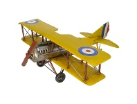 LivingStyles Boutica Handmade Tin Aircraft Modle - Curtis Jenny Biplane, 60cm