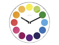 LivingStyles NeXtime Dots Round Dome Wall Clock - White