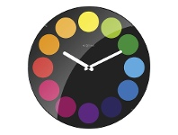 LivingStyles NeXtime Dots Round Dome Wall Clock - Black