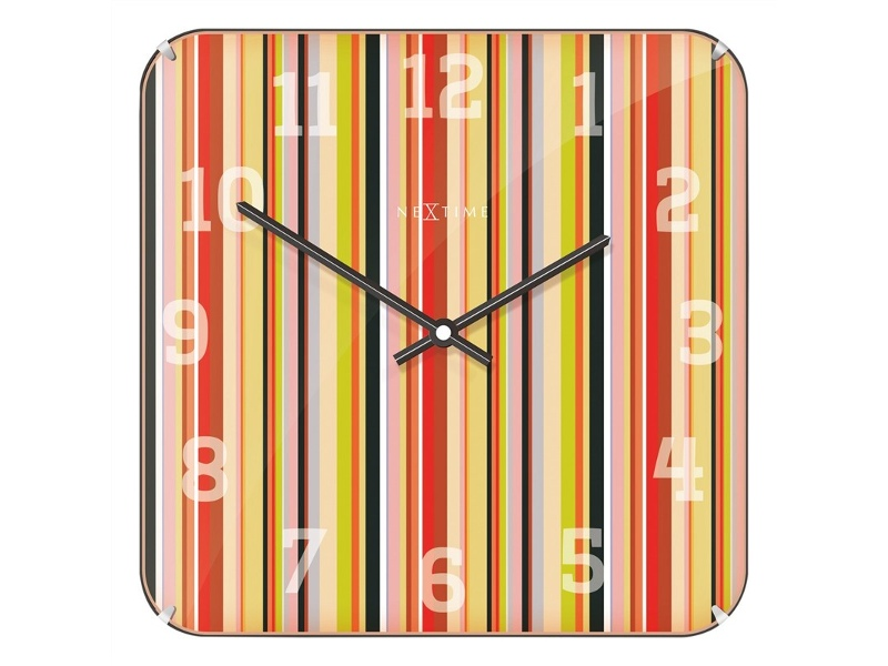 NeXtime Smithy Square Dome Wall Clock