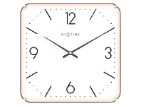 LivingStyles NeXtime Basic Square Dome Wall Clock - White