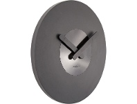 LivingStyles Nextime In Touch Wooden Round Wall Clock - Black