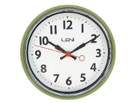 LivingStyles Leni Essential Metal Round Wall Clock - Sage Green
