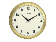 LivingStyles Leni School Metal Round Wall Clock - Gold