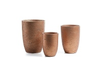 LivingStyles Megalo 3 Piece Poly Cement Planter Set, Type A