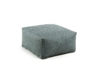 LivingStyles Bellavista Quilted Fabric Bean Bag Pouf, Turquoise