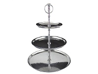 LivingStyles Lordes Aluminum 3 Tier Cake Stand