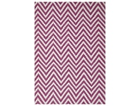LivingStyles Modern Double Sided Flat Weave Chevron Design Cotton & Jute Rug in Pink - 320x230cm
