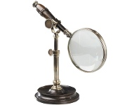 LivingStyles Cambridge Rosewood Handle Magnifier with Stand - Bronze