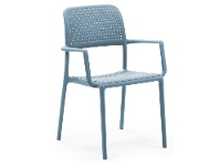LivingStyles Bora Italian Made Commercial Grade Stackable Indoor/Outdoor Armchair - Blue