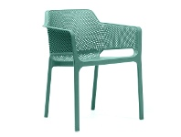 LivingStyles Net Italian Made Commercial Grade Stackable Indoor/Outdoor Armchair - Green